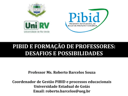 PIBID e Formação de Professores