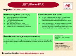 Escola Básica Grão Vasco - Plano Nacional de Leitura