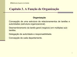 V - Função Organização