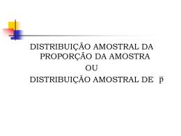 Aula 11 - Distribuição Amostral da Proporção