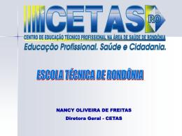 ETSUS DE RONDÔNIA - RET-SUS Rede de Escolas Técnicas do