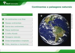 Continentes - Paisagens naturais