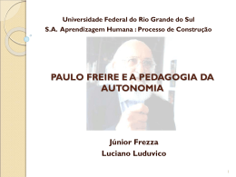Paulo Freire - aprendizagemhumana