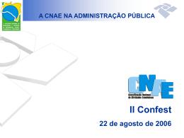 A Cnae na administração pública