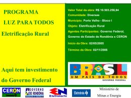 Slide sem título - Eletrobras Distribuição Rondônia