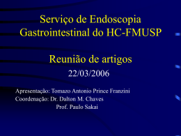 INTRODUÇÃO - Endoscopia (HC