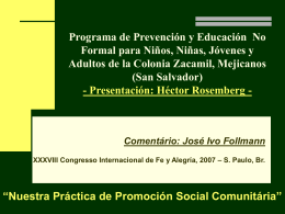 José Ivo Follman - Federación Internacional de Fe y Alegría