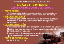 Jesus Cristo - Fim dos tempos