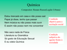 Química Compositor: Renato Russo(Legião Urbana)