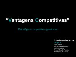 G3 Vantagens Competitivas