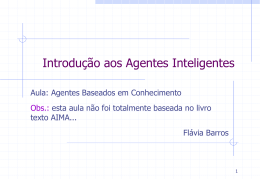 Agentes baseados em conhecimento