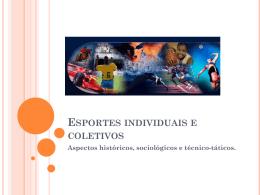 Esportes individuais e coletivos