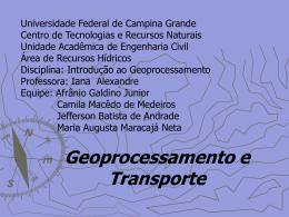 GeoprocesamentoeTransportes