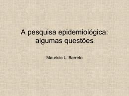 Epidemiologia: Fundamentos, Métodos e Aplicações