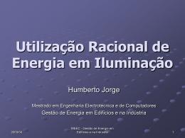 URE - Iluminação - Laboratório de Gestão de Energia