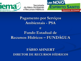 FUNDÁGUA - Programa Produtor de Água