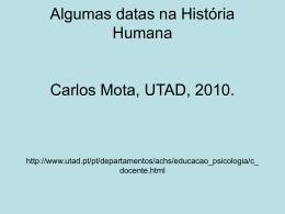 Algumas datas na História Humana