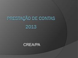 Prestação de Contas 2013 - CREA-PA