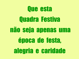 FESTA DA FRATERNIDADE 2007