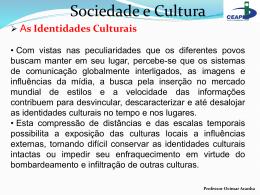 As Identidades Culturais