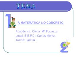 A Matemática No Concreto