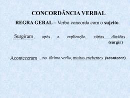 Concordância Verbal (2º ano)