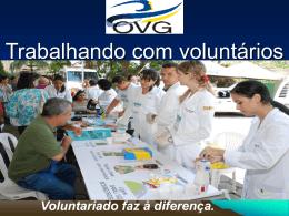 Trabalhando com voluntários