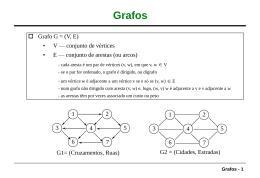Grafos: representação, ordenação topológica, caminho mínimo