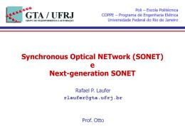 Apresentação sobre SONET, por Rafael Pinaud Laufer