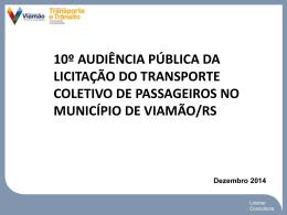 10º Audiência de Rede Transporte Viamão