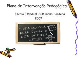 Plano de Intervenção Pedagógica
