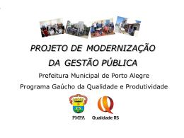 Projeto de Modernização da Gestão Pública
