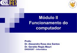 Módulo II Funcionamento do computador