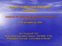 Avaliação das Atividades de Educação Corporativa Fundamentos