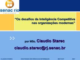 Palestra sobre IC Claudio Starec