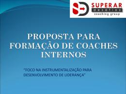 proposta para formação de coaches internos
