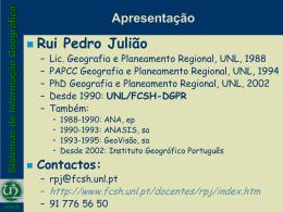 Informação Geográfica - Universidade Nova de Lisboa