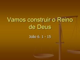 Vamos construir o Reino de Deus