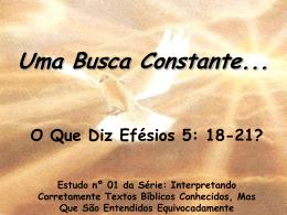 uma busca constante – efésios 5: 18 a 21