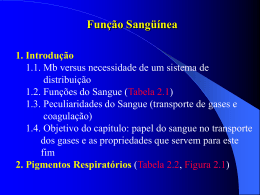 Tabela 2.1. As funções do Sangue