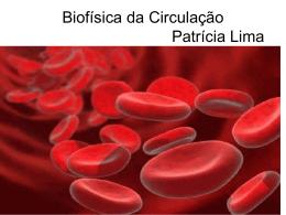 Biofísica da Circulação Patrícia Lima