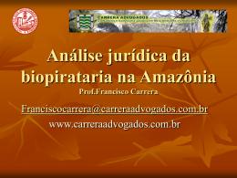 Apresentação - Palestrante Francisco Carrera
