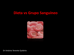Dietas versus tipo de sangue