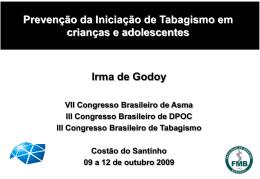 Prevenção da Iniciação de Tabagismo em crianças e adolescentes