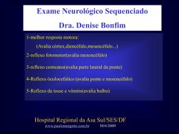 Exame Neurológico - Paulo Roberto Margotto
