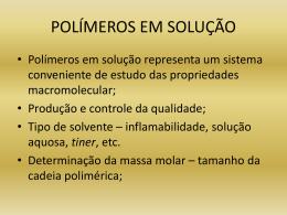 Solubilidade de Polímeros