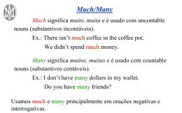 Much/many
