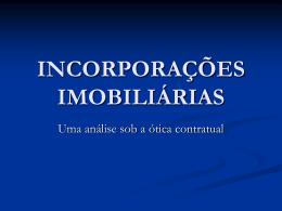 INCORPORAÇÕES IMOBILIÁRIAS
