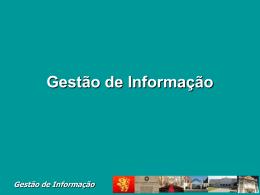 Gestão da Informação
