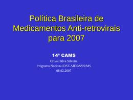 Política Brasileira de Medicamentos Anti